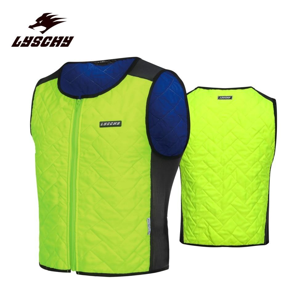 Motorcycle Water Coole Vest Giubbotto Moto Con Protezioni Unisex Motocross Rider Chaleco Motociclista Green Reflective Clothing