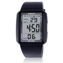 ساعة نسائية فاخرة من Watche طراز 100 متر ساعة رياضية رقمية مزودة بإضاءة LED مناسبة للغوص والسباحة