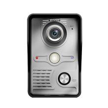 7 «дюйма TFT Сенсорный экран ЖК-дисплей Цвет Видео Домофонные дверной звонок настенный домофон ночного видения глаз Камера домофона