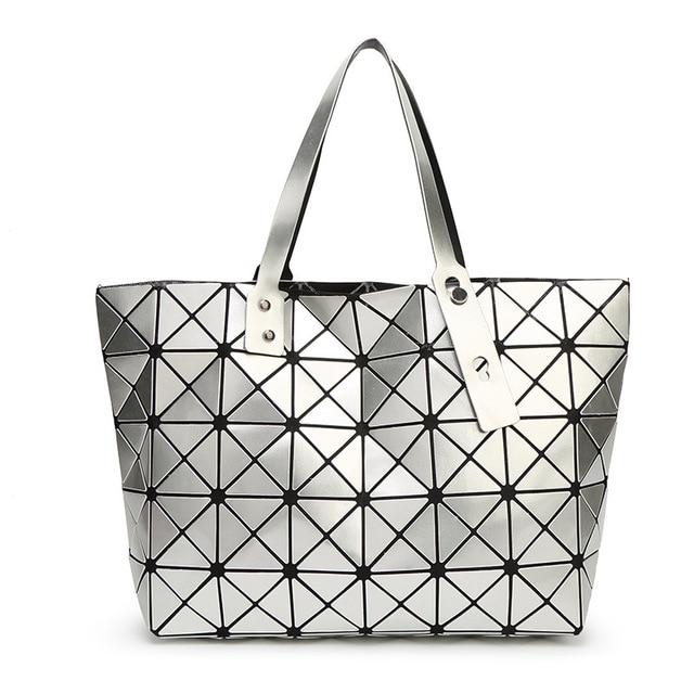 e0752e43f435 Japanese Style Folding Bag Geometric Bags Handbags Women Famous Brands  Casual Women Shoulder Cross Body Bag Vogue Totes