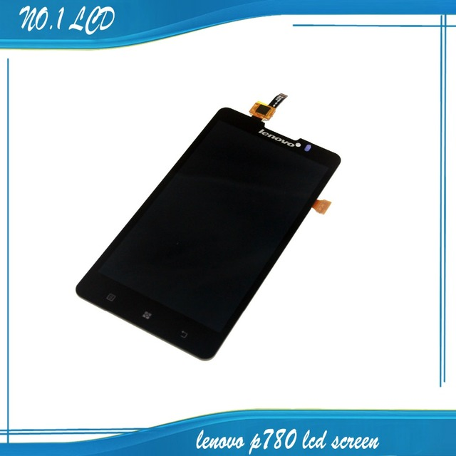 Substituição lcd screen display digitador touch assembléia tela completa para lenovo p780 frete grátis