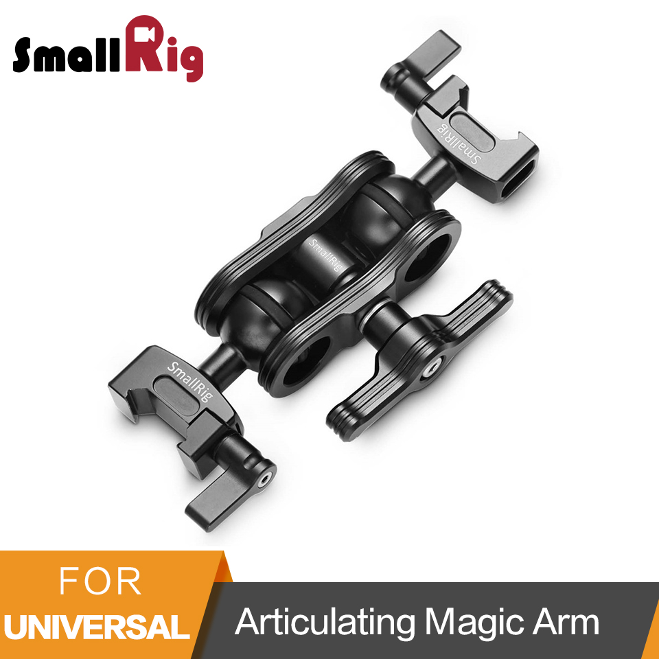 SmallRig Articulating Magic Arm with Double Ballhead NATO Clamps Monitor Mount for Field Monitor Lights DIY Rig - 2072