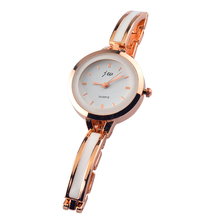 2017 Style Ladies Artistic Stainless Metal Transient design Bracelet Watches Girl Quartz Watches With Slim Strap Wristwatch