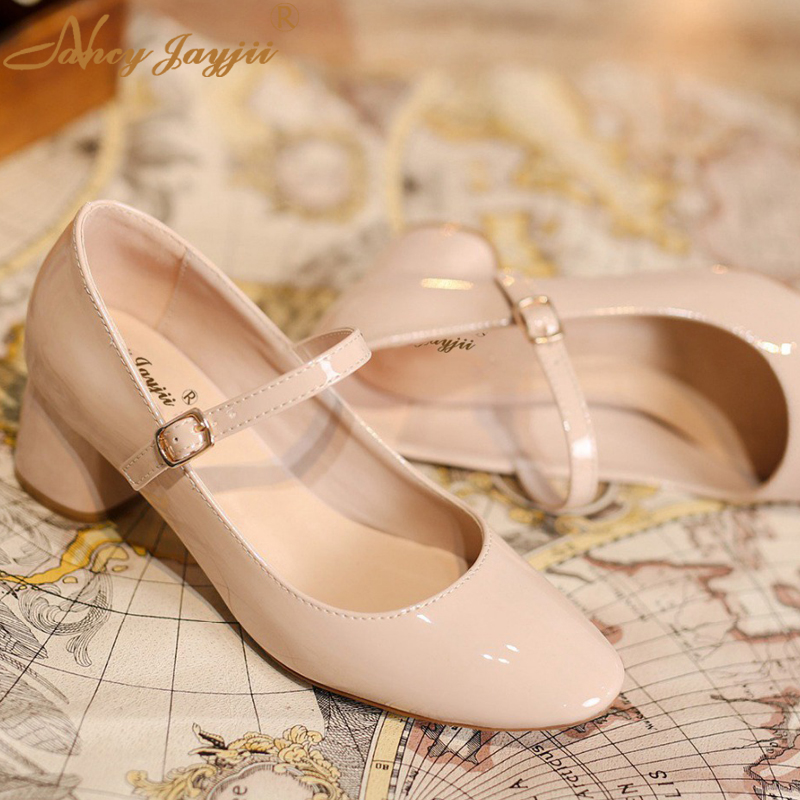 Nancyjayjii Lolita Shoes Sweet Round Toe Kitten Heels Genuine Leather Women Shoes Mary Janes Pumps Woman Casual&DailyParty 2017 crystal embellished ankle strap runway pump round toe butterfly knot heels shoes woman sexy mary janes shoes real photo
