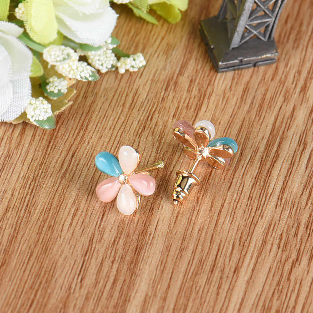 Fashion Elegant Women Earring Silver Plated Flower Crystal Rhinestone Ear Earrings Jewelry Beautiful Bijoux Earrings Oorbellen
