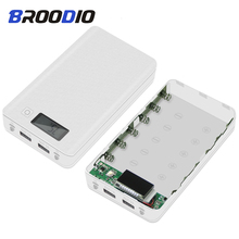 купить 6*18650 Power Bank Case Dual USB 5V With liquid crystal display  Battery Box Mobile Phone Charger DIY Shell Case For Xiaomi по цене 449.41 рублей