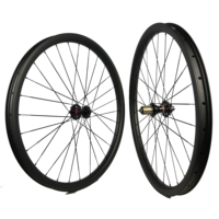 29er MTB wheelset carbon descent wheel 40mm wide clincher hookless tubeless compatible treck bike component DH down hill cycling