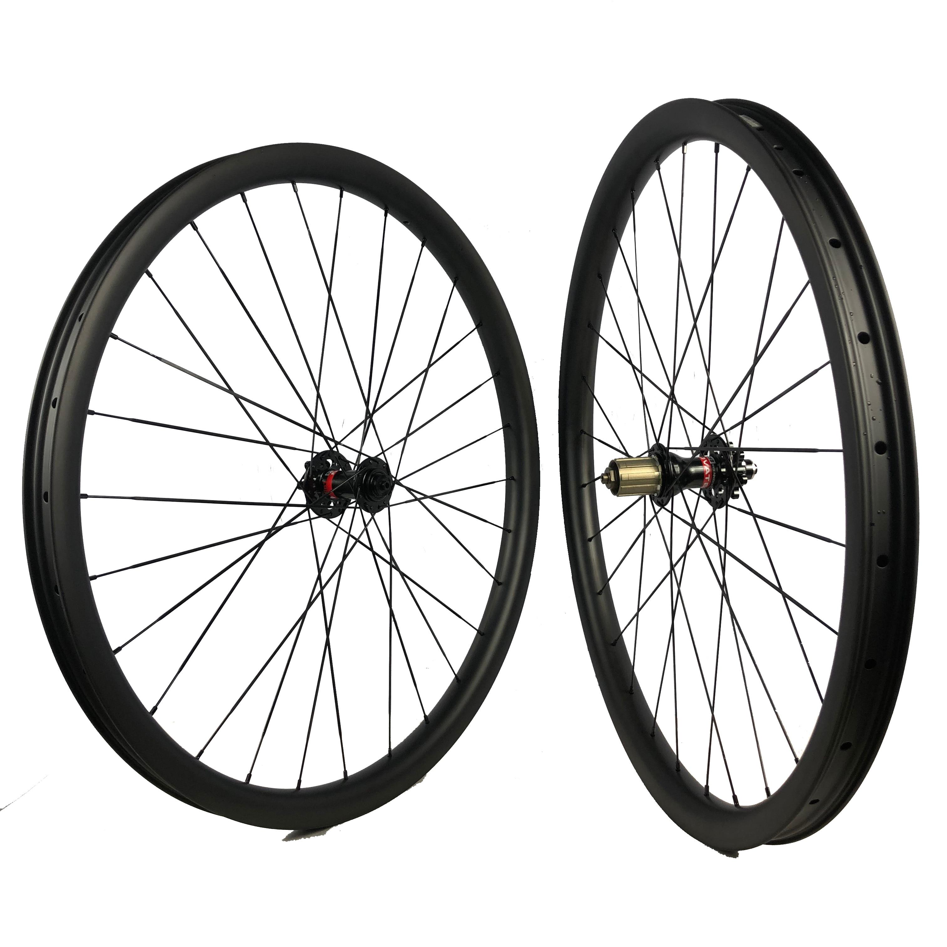 29er rodado MTB hookless descida 40mm de largura da roda de carbono clincher tubeless compatível treck componente bicicleta DH-down hill ciclismo