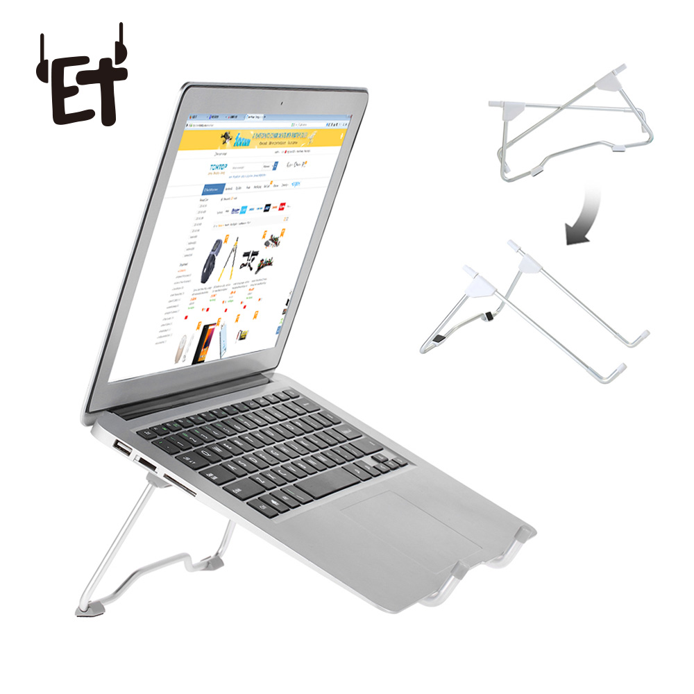 Foldable Laptop Stand Aluminum Alloy Desktop Tablet Stand Holders for Macbook iPad Pro PC 15.6 inch Adjustable Holder Bracket