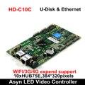 Huidu HD-C15 HD-C15C Assíncrona Full-Color LED Controlador De Vídeo 384*320 pixels, compatiable com HD-R501/R5018 Cartão de Recebimento