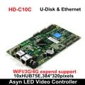 Huidu HD-C15 HD-C15C asíncrono-Color LED controlador de vídeo 384*320 píxeles compatible con tarjeta de recepción HD-R501/R5018