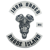 Iron Order DIY Apparel Accessories Patch Embroidery Badge Iron on Biker Sewing Fabric Motorcycle Stickers on Clothes Patches