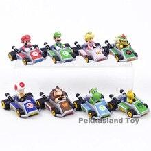 Süper Mario Bros Mario Luigi Şeftali Bowser Kurbağa Donkey Kong Yoshi Koopa Kart Geri Çekin Araba Aksiyon Figürü Oyuncak 8 adet/takım