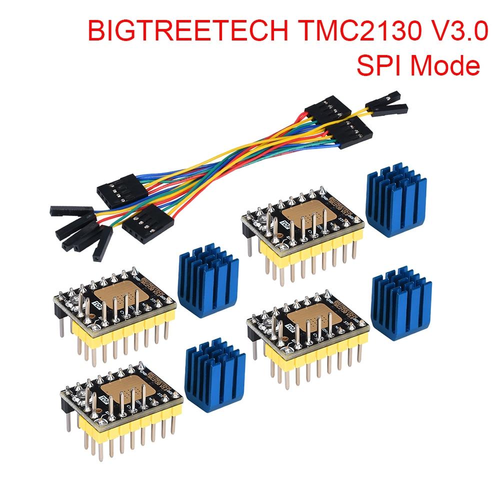 BIGTREETECH TMC2130 V3.0 SPI Stepper Motor Driver 3D Printer Parts TMC2208 TMC2209 A4988 For SKR V1.3 Board MKS Ramps 1.4 CR10