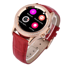 Fashion Diamond 1 22 Bluetooth Smart Watch For iOS Android font b Smartwatch b font Heart