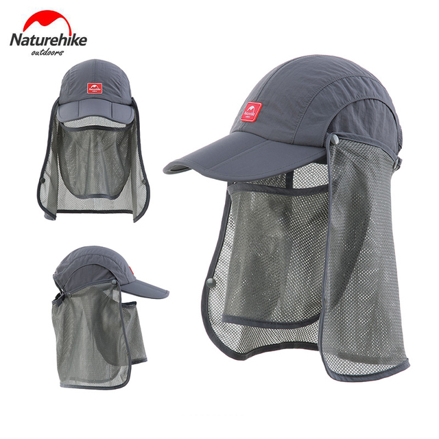 Naturehike Outdoor Unisex Men Women Anti-UV Sun Hat with Face Mask Camping Hiking Fishing Cap with Sun Mask NH12M002-Z