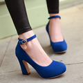 Autumn High Heels Princess Sweet Shoes Blue Platform Pumps For Women's Shoes sy-1766