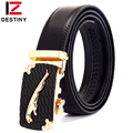 DESTINY Gold Belts For Men Luxury Brand Famous Designer Male Genuine Leather Strap High Quality Metal Automatic Cinto Ceinture