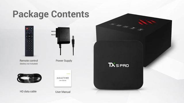 Tanix TX5 MAX PRO DDR4, 4 Гб оперативной памяти, 32 Гб встроенной памяти, 2,4G 5G Wi-Fi LAN Bluetooth Android 8,1 ТВ Box Amlogic S905X2 4 ядра 4 K tx5 max pro 4