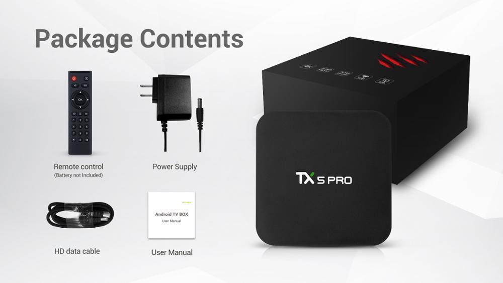 Tanix TX5 MAX PRO DDR3 4 GB 32 GB 2.4G 5G WiFi LAN Bluetooth Android 8.1 TV Box Amlogic S905X2 Quad Core 4 K tx5 max pro - 5