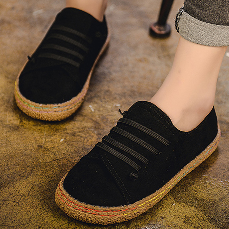 Women vulcanize shoes slip-on fashion sneakers for girls large size 35-42 hard-wearing female shoes 2018 spring new style