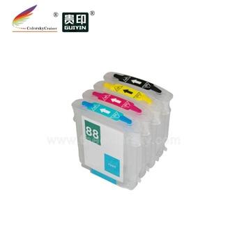 (RCH-88) de tinta recargable cartucho de inyección de tinta para hp 88 hp88 c9385a Officejet Pro K5300 L7380 L7680 K550 K5400 L7580 L7780 K8600
