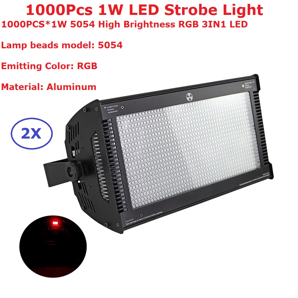 2Pcs/Lot Atomic LED Strobe Lights High Brightness 1000PcsX1W RGB 3IN1 DMX Strobe Lights With 8 DMX Channels Indoor Use atomic force microscopy in process engineering
