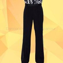 Men's latin dance costume men's spandex STONES latin dance trousers men's  Rumba / Samba / Tango Cha Cha / Jazz Dance wear 036