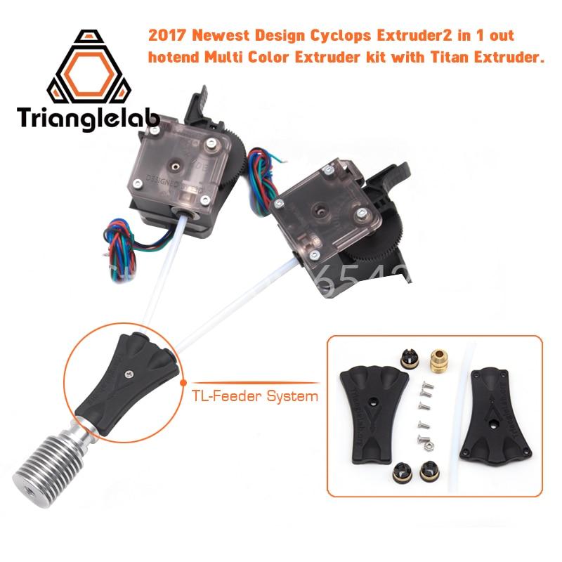 Trianglelab 3 Dprinter V6 Cyclops doble cabeza kit 2WAY en 1WAY fuera 2 en 1 fuera TL-Feederbowden prometheus sistema con Titan extrusora