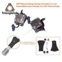 Trianglelab 3D принтер V6 Циклоп Dual Head комплект 2WAY в 1WAY из TL-feederbowden Прометей Системы с Titan экструдер