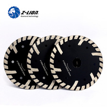 Z-LION 3pcs 125mm Diamond Cutting Blade Protective Teeth Turbo Cutting Saw Granite Marble Stone Saw Disk for Angle Grinder Grind