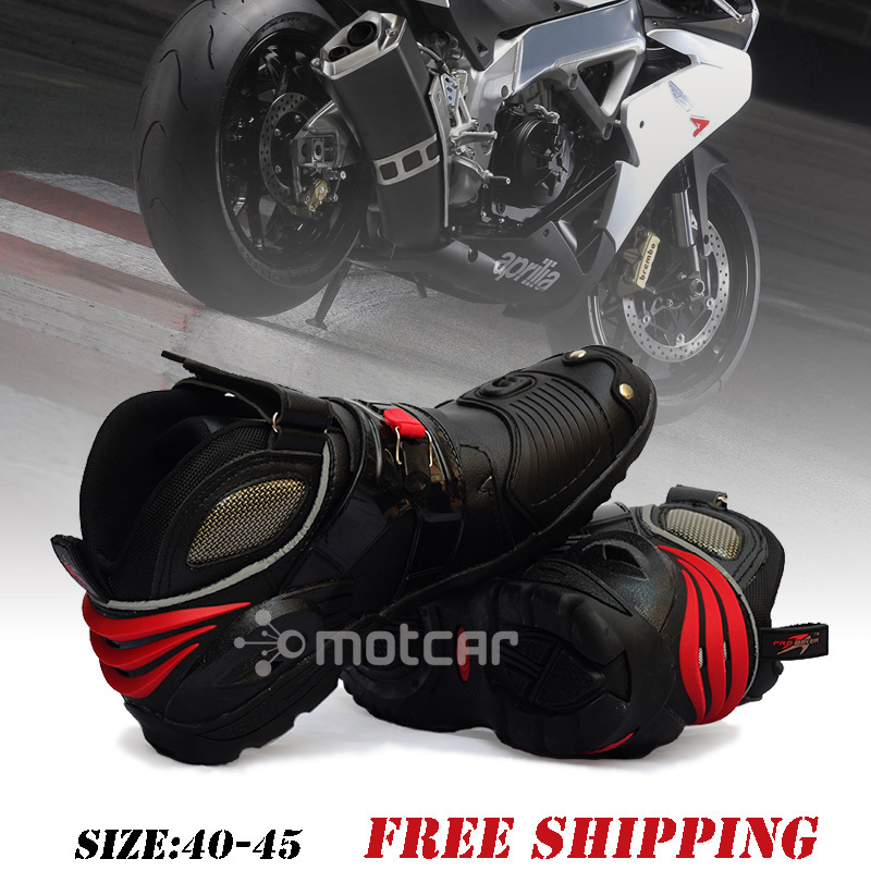 Motorcycle Boots Moto Racing Motocross Motorbike Shoes Protective Gear Motorcycle Boots Out Doorsport Shoes Size Eur 40-45 A9002 scoyco p017 2 motorcycle pants protective racing trousers sports riding windproof motorbike pantalon moto motocross motocicleta