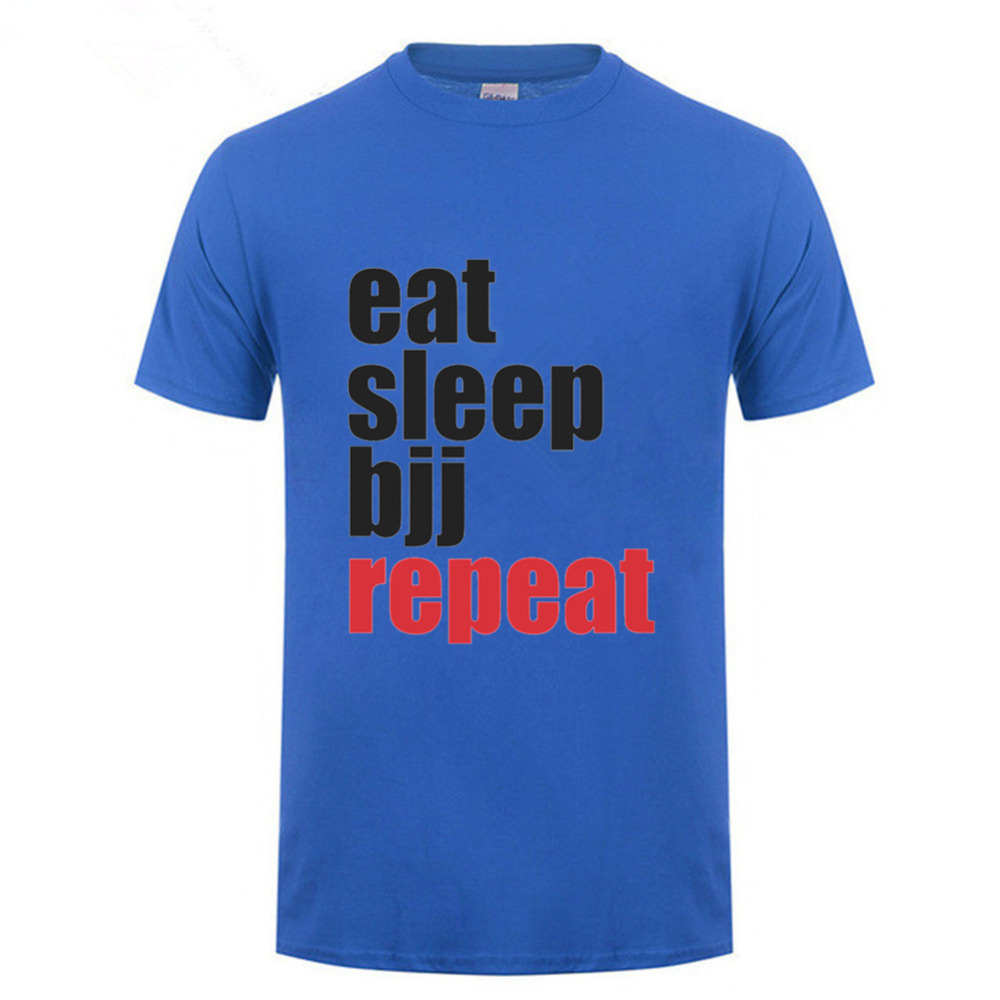 Hot sale Eat Sleep Kumite repeat T Shirt Men 2018 Summer Kumite Fitness T-shirt hombre Letter printed Cotton BJJ tshirt Homme