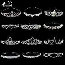 Carddoor Princess Tiaras and Crowns Headband Kid Girls Lover Bridal Prom Crown Wedding Tiara Party Accessiories Hair Jewelry