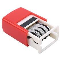 Criativo diy lidar com a conta data selos carimbando lama conjunto mini auto-inking selos para scrapbooking material de escritório emboss