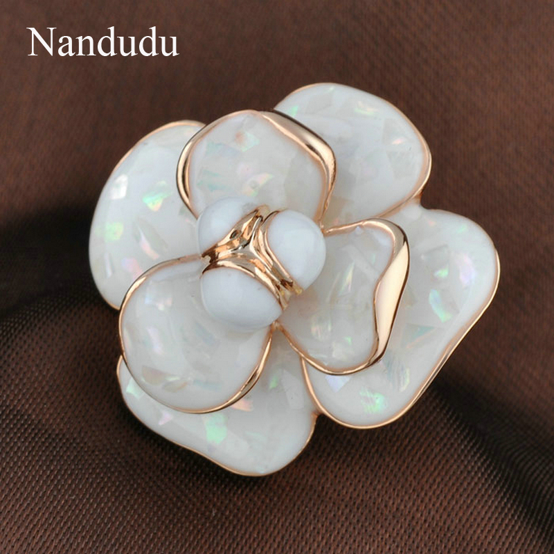 Nandudu Kualitas Tinggi Hot Sale Blooming Enamel Flower Rings Bridal - Perhiasan fashion - Foto 3