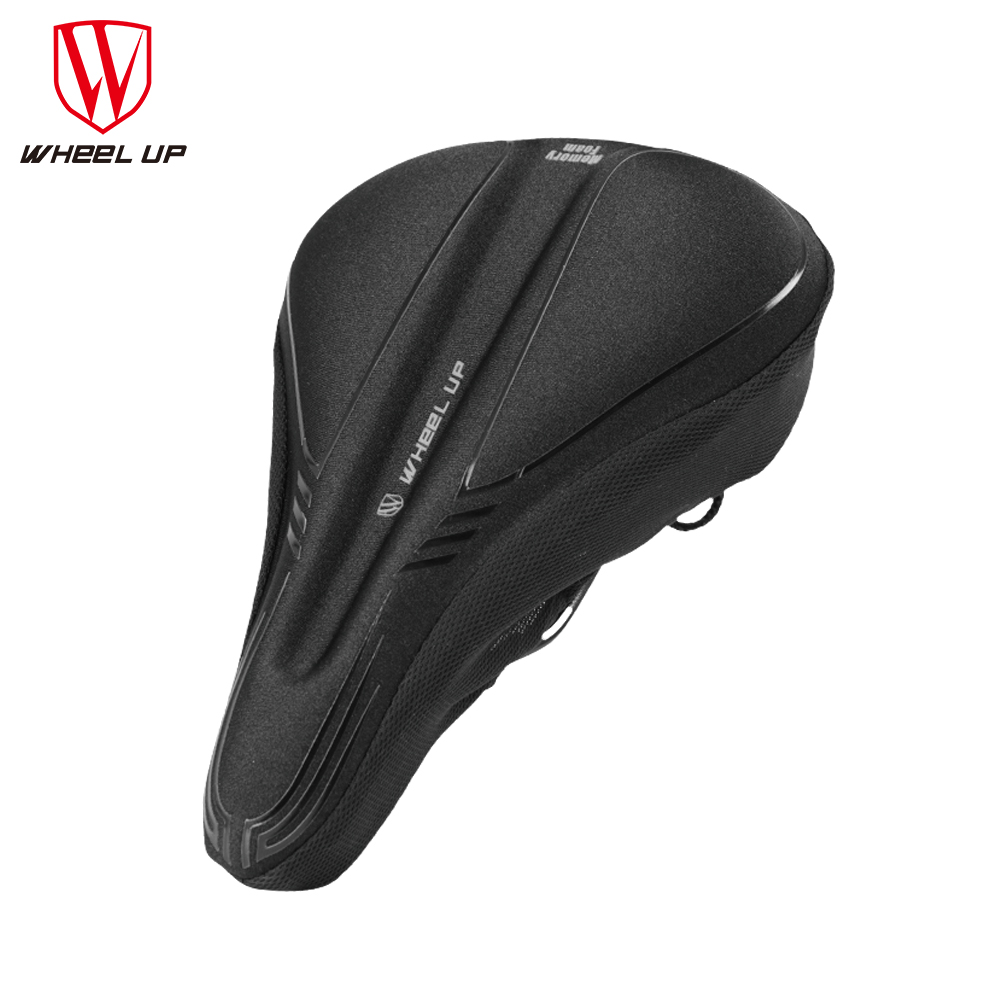 WHEEL UP Bicycle Silicone Saddle Cover Breathable MTB Mountain Road Bike Seat Cushion Covers Mat Silica gel Pads Cycling Parts wheel up pvc mtb road bike bicycle saddle elastic soft silicone gel saddle with taillight cycling seat cushion sillin bicicleta