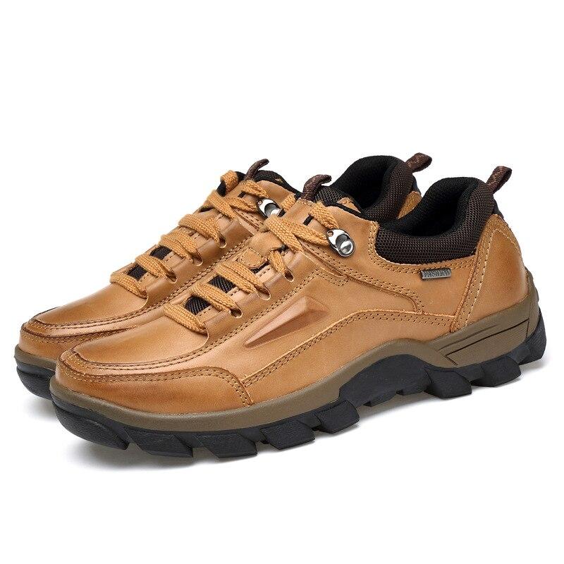 29f757c2cb8 Brown Hommes yellow plus Marque Yellow En Haute Cuir Homme Dark Chaussures  Chaussure Décontractée Véritable plus ...