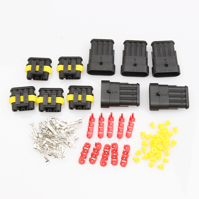 15PCS 2/3/4 Pin Dupont Terminals Waterproof HID XH-2.54mm Male/Female Electrical Wire Pin Jumper Connector Plug Kit 1000pcs dupont jumper wire cable housing female pin contor terminal 2 54mm new