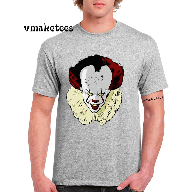 Men Printing The Dancing Clown <font><b>Pennywise</b></font> Fashion T-shirt Summer Casual Short Sleeves <font><b>Tshirt</b></font> GMT4129 image