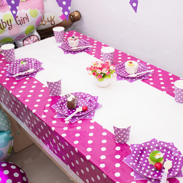 Dot Disposable Plastic Table Cloth Birthday Party Decoration Kids Baby  Shower Decoration Supplies Disposable Tablecloth S2017139