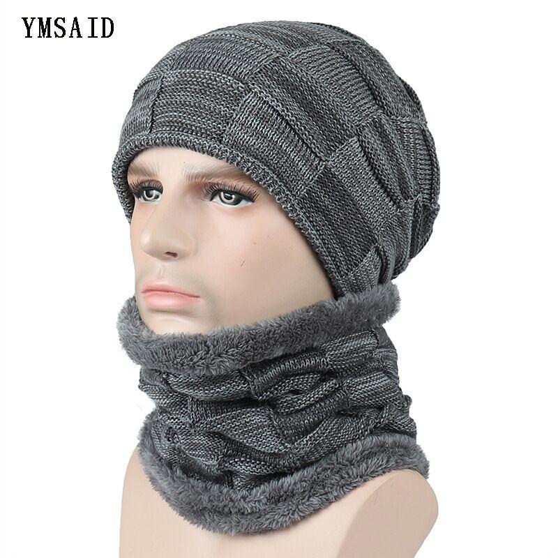 Winter Ski   Beanie   Hat Scarf   Skullies     Beanies   Soft Skull Warm Baggy Cap Mask Gorros Winter Hats For Men Women Knitted Hat