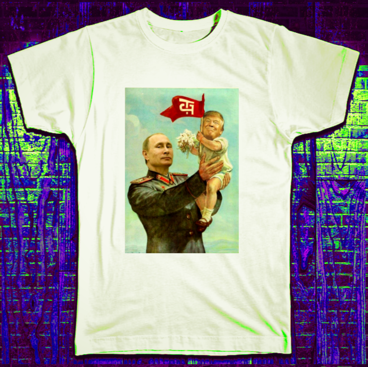 PUTIN TRUMP FUNNY JOKE T SHIRT Fashion T-Shirts Summer Straight 100% Cotton New Fashion Men Women'S image
