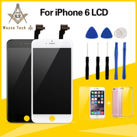 10PCS LOT Grade A LCD Display Assembly With Frame For IPhone 6 Screen Display Free