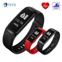 Teyo умный Браслет C7S крови Давление монитор сердечного ритма фитнес-трекер Водонепроницаемый stappenteller запястье для iOS и Android