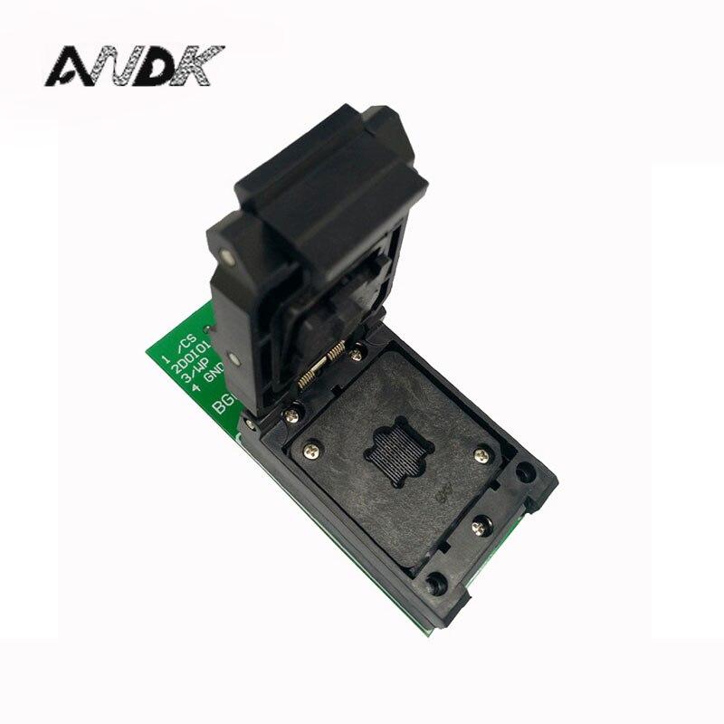 BGA24 à DIP8 1.0 MM prise de programmation IC taille 6*8mm/BGA24 IC prise de Test/BGA24 à 48 prise de gravure U disque puce prise