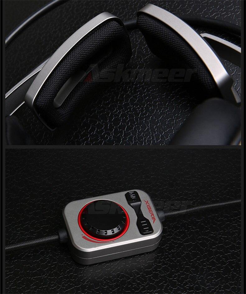 Fones de Ouvido Estéreo com Microfone Gaming