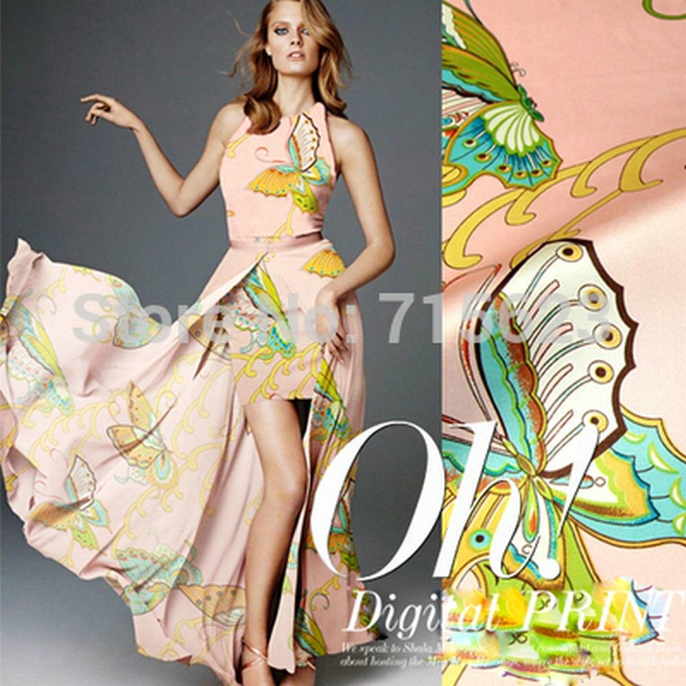 Printed Silk Satin Fabric for silk dress 100 silk