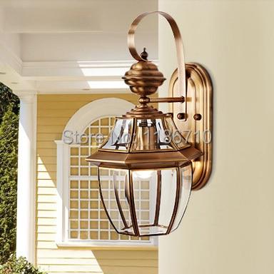 High End Europäischen Stil Reinem Kupfer Wandleuchte Villa Garten
