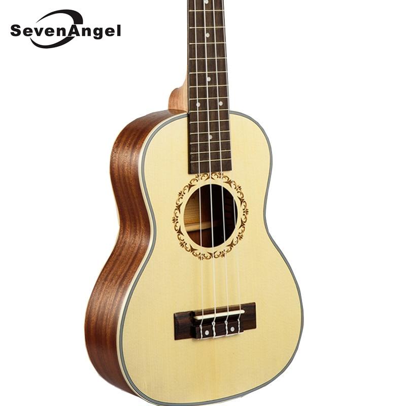 "SevenAngel 23"" Concert Ukulele 4 AQUILA Strings Hawaiian Mini Guitar Uku Acoustic Guitar Ukelele 12 Patterns Guitarra Send Gifts"